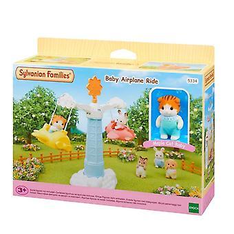 Rodziny Dollhouse Meble Akcesoria, Baby Airplane, Ride Figure