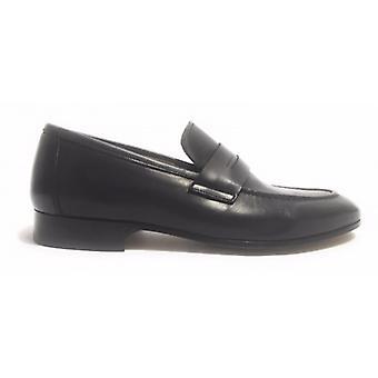 Men's Shoes Ben.ter Black Moccasine Bandina Leather Bottom Handmade Us17bt12
