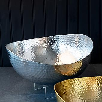 """Handcrafted 12"""" Hammered Stainless Steel Centerpiece Bowl"""