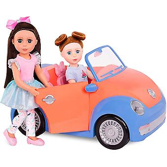 DZK Girls GG57066Z Battat-Convertible Car for 35.6 cm (14-inch) Dolls-Toys