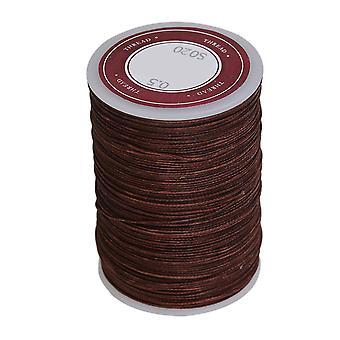 Cuerdas de collar de hilo de poliéster encerado 0,5 mm marrón artesanía alambre de hilo redondo