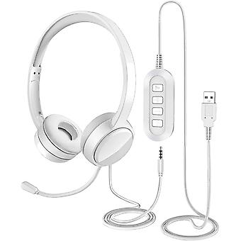 USB Headset/ 3.5mm Computer Headset with Microphone Noise Cancelling le-53-fgo