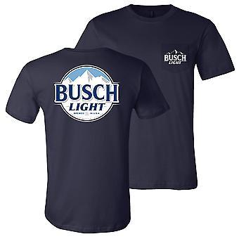 Busch hellblau vorne und hinten Tasche T-Shirt