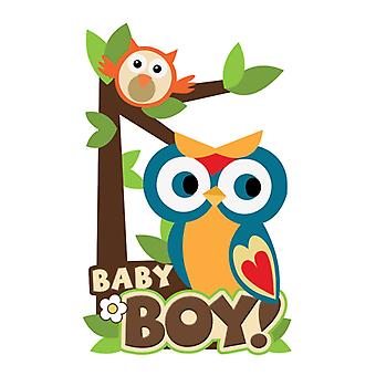 Paper House Productions - 3D Stickers - Baby Boy Scene