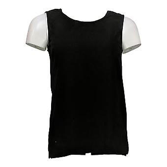 Joan Rivers Classics Collection Women's Top Stretch Tank Black A295141
