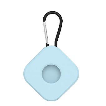 2 stk for lufttags beskyttende sak anti tapt nøkkelring firkantet lysende blå