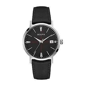 Bulova Classic Aerojet 96B243 - Design watch with leather strap - man - black