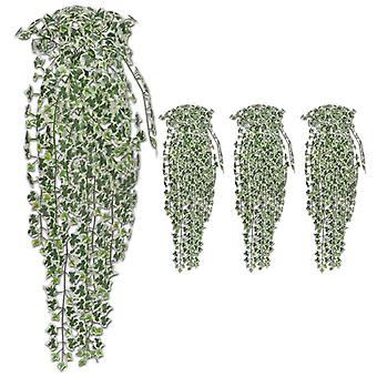 vidaXL Keinotekoinen ivy tendrils 4 kpl. Monivärinen 90 cm