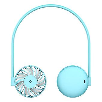 Usb fan mini leafless fan lazy neck fan 2021 new cross-border students usb charging sports fan