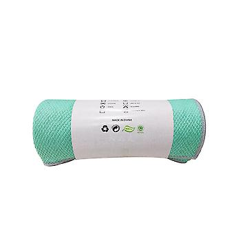SPORX Yoga mat towel non slip for hot yoga Green