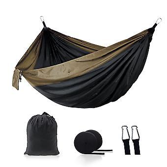 Paracadute amaca portatile doppio campeggio poltrona in nylon nero