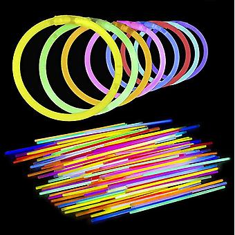 """100 Glow Sticks Bulk Party Supplies With 8"""" Glowsticks And Connectors"""