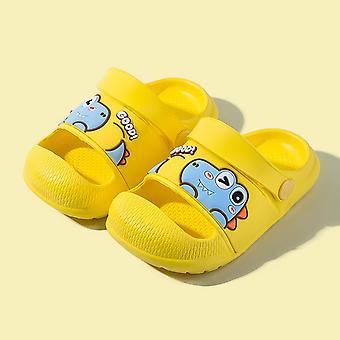 Toddler Cute Slippers Dinosaur Style Eva Non-slip Slippers Gentle Boy And Girl Bathroom Slippers