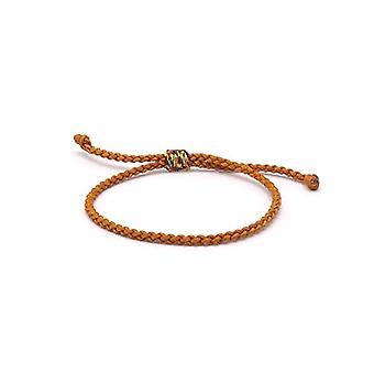 Benava - Tibetan Friendship Bracelet, handmade, adjustable and metal base, color: bronze, cod. 0054-Bronze