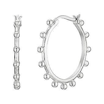 NOELANI Silver hoop earrings 925(8)