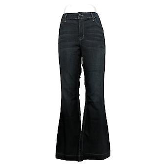 Laurie Felt Mujeres's Jeans Silky Denim High-Heel Bell Zip Azul A346743