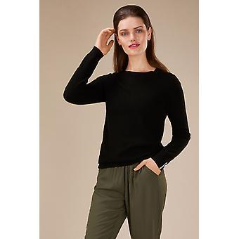 Loop Cashmere Crew Neck Sweater In Black