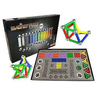 Magnetisches Bauset XXL 560-teilig mit Zeichenbrett