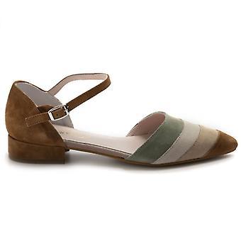 Sangiorgio kvinnors sko i mångfärgad mocka med låg häl