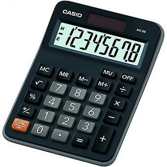 Casio MX8B-BK Bureau Calculator 8 Cijfer display Zwart