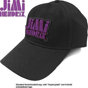 Jimi Hendrix - Purple Stencil Logo Men's Baseball Cap - Black