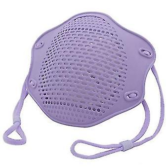 2Kpl violetti kn95 suoja maski ruokalaatuinen silikoni naamio viisikerroksinen suodatin pölysuojamaski az10891