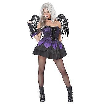 Kvinner Evil Fairy m/vinger sexy Pixie Halloween fest fancy kjole kostyme medium