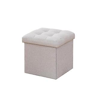 Light gray 38x38x40cm multi-purpose large capacity foldable storage stool homi2099