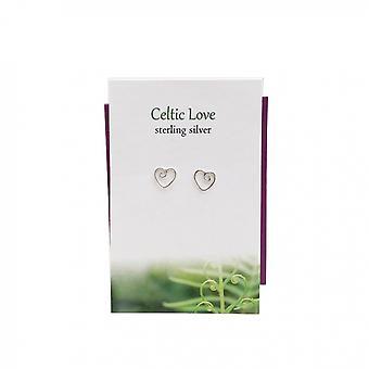 Celtic Love Stud Earrings Card by The Silver Studio