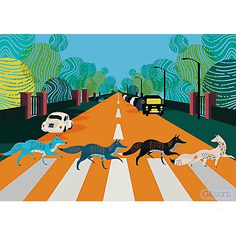 Gibsons Abbey Road Foxes White Logo Puzzle (500 Teile)