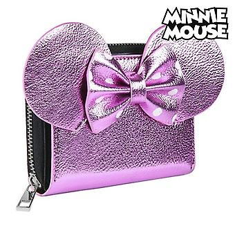 Purse Minnie Mouse Card holder Pink Metallic 70688
