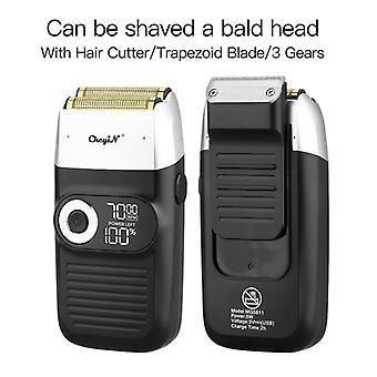 2 Em 1 cortador de cabelo de aparador de barba elétrica portátil para homens