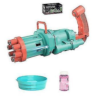 Gatling Kupla kone Cool Fun Toys Lahja 8 reikä automaattinen kupla maker (vihreä)