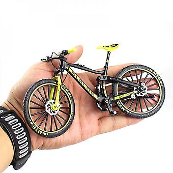 Mini 1:10 Alloy Bicycle Scale Model Dasktop Simulation Ornament Finger Mountain Bikes Toy