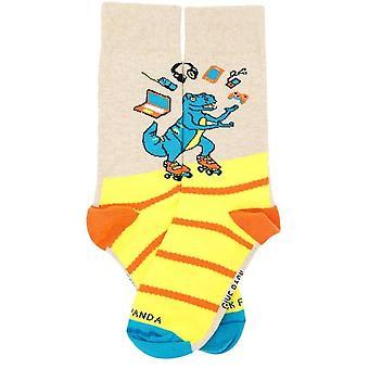 Juggling Dinosaur Socks (Back to School) from the Sock Panda (Adult Small)