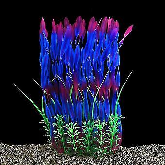 النباتات حوض السمك الكبيرة الاصطناعية البلاستيك خزان النباتات الديكور(الأرجواني)