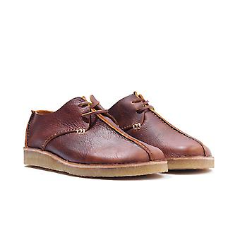 Yogi Footwear Caden Centre Seam Leather Shoes - Chestnut Brown
