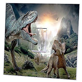 Dinosauri singola/doppia luce Switch Sticker copertura pelle Decalcomanie da muro camera da letto
