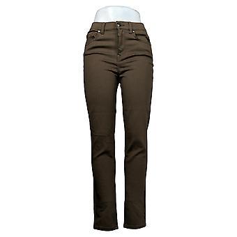 DG2 door Diane Gilman Dames Jeans Stretch Skinny Jean Brown 678582