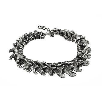 Bracelet gothique en étain vertèbres alchimie