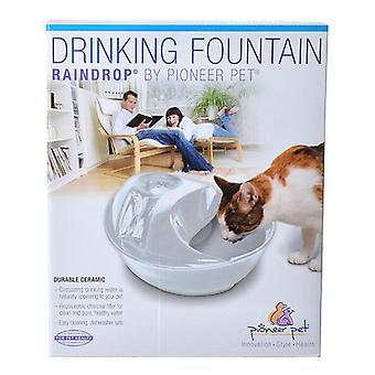 Pioneer Raindrop Ceramic Drinking Fountain - White - 60 oz