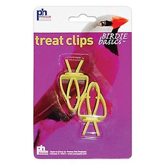 """Prevue Birdie Basics Treat Clips - 2 упаковки - (1,5 """"Ш x 2,25""""В)"""