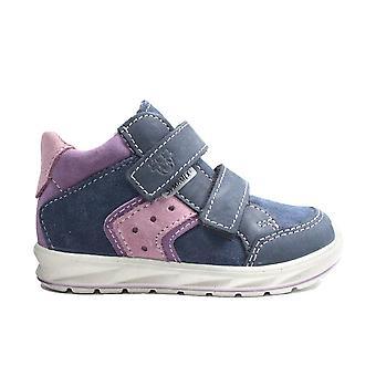 Ricosta Kimo 2120200-184 Nautic/Purple Nubuck Leather Childrens Ankle Boots