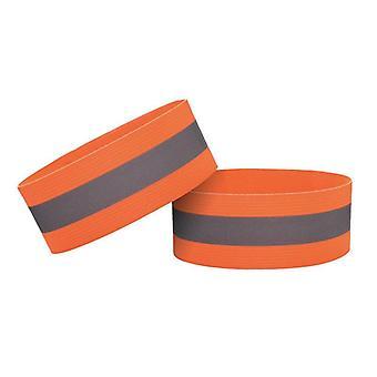 Reflekterende Arm & Footband Oransje Sykkel Aktivitet Trafikk Sport