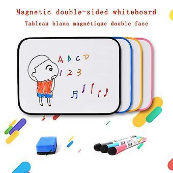 لوحة بيضاء مغناطيسية مزدوجة الجانب الجاف محو لوحة كتابة رسالة