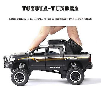 Toy cars 1:32 tundra car model alloy car die cast toy car model pull back children's toy collectibles black