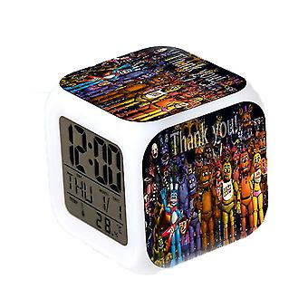 Alarm clocks thermometer glowing cube alarm clock five night's at freddy square with date night