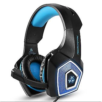 3.5mm Mic Gaming Headset RGB LED Headphones for PC Laptop PS4 PS5 Xbox(Blue)