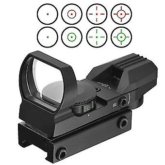 11mm Holographic Red Green Dot Sight Reflex Tactical Scope Mirror Reflective Sight-n02