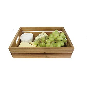 Mini houten Vintage opslag en presentatie krat Fruit vak 30 x 21 x 7 (h) cm Easy Grip